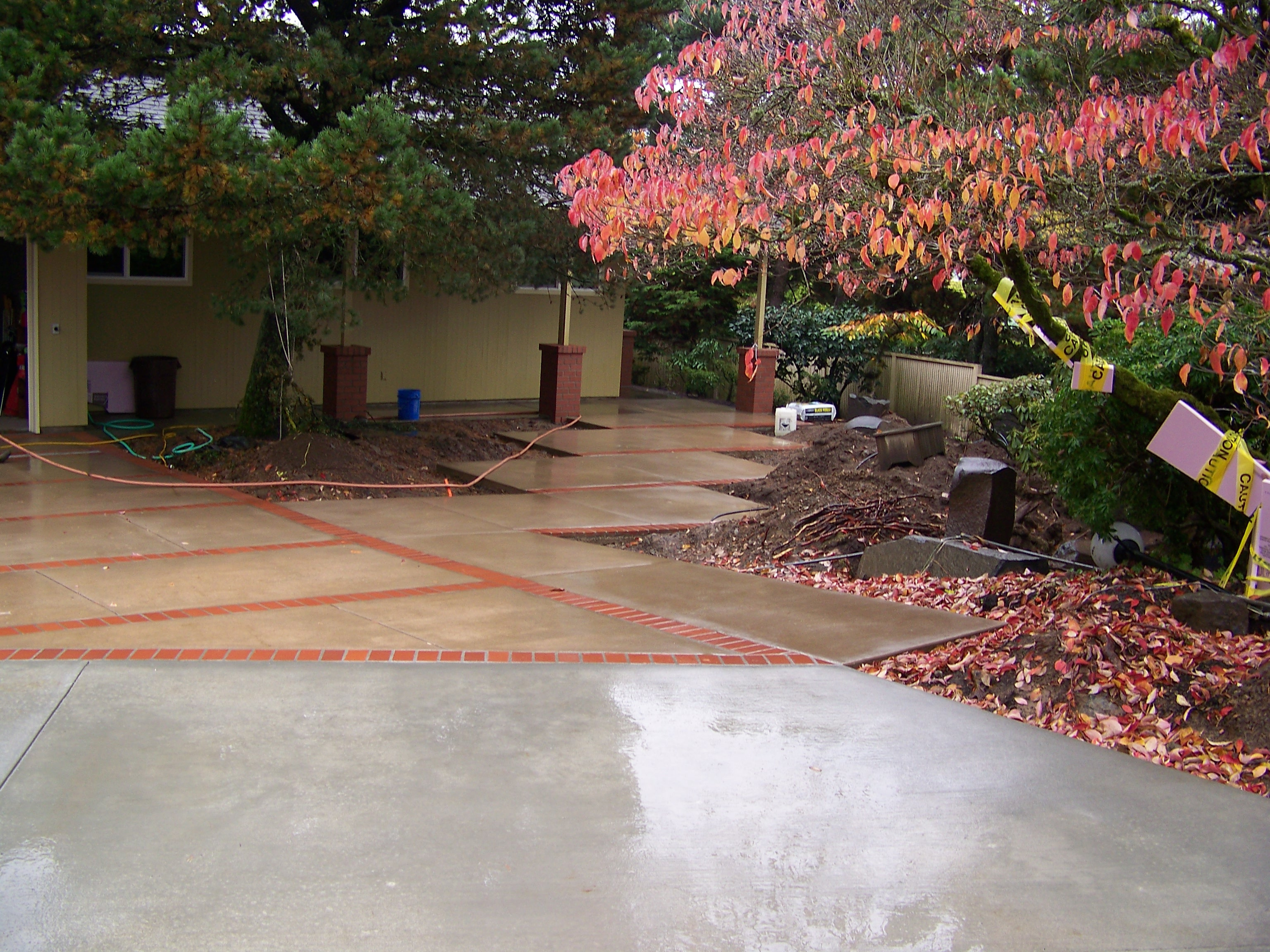 Marvelous We Install Concrete Driveway Concrete Driveways ,sidewalks,walkways,Concrete  And Brick Patio Combinations / Driveway Repair Or Replacement / Colored ...